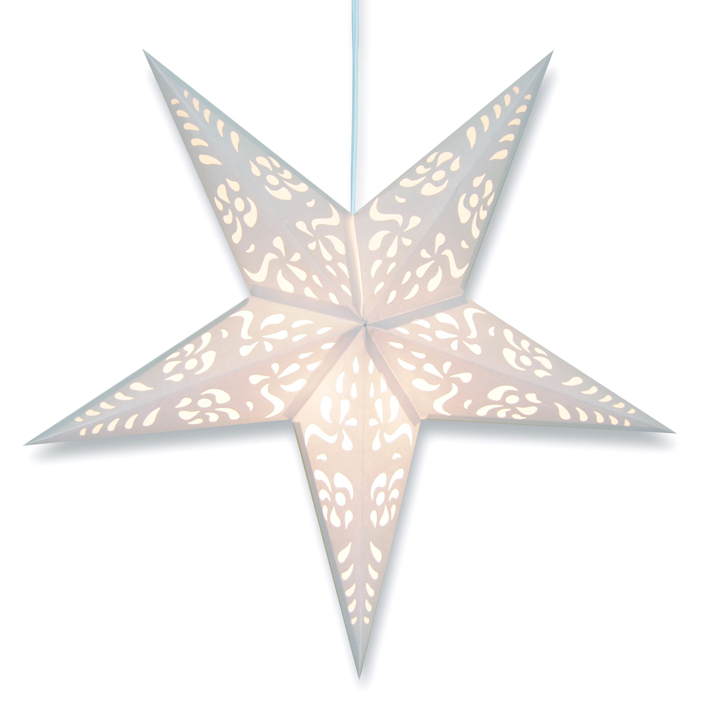 White Punch Paper Star Lantern