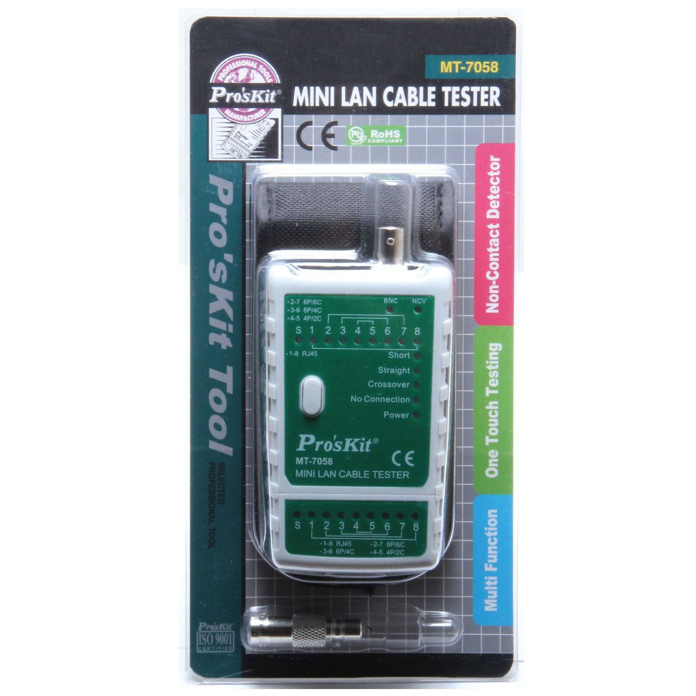 Eclipse Tools MT-7058 Pro'sKit Mini LAN Cable Tester