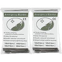 """Binhai Couverture de Survie D'urgence, Couverture de Sauvetage, Couverture Survie 52""""x 83"""" (2-Pack)"""