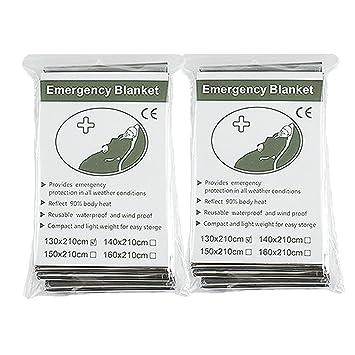 "Binhai Mantas de Emergencia, Manta Térmica, Manta de Emergencia, Mantas de Emergencia 52"""