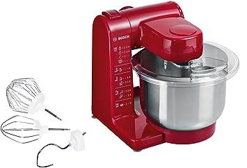 Amazon De Bosch Mum44r1 Kuchenmaschine Mum4 500 Watt 3 9 Liter Rot