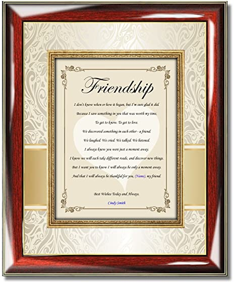 Amazoncom Personalized Friendship Picture Frame Best Friend