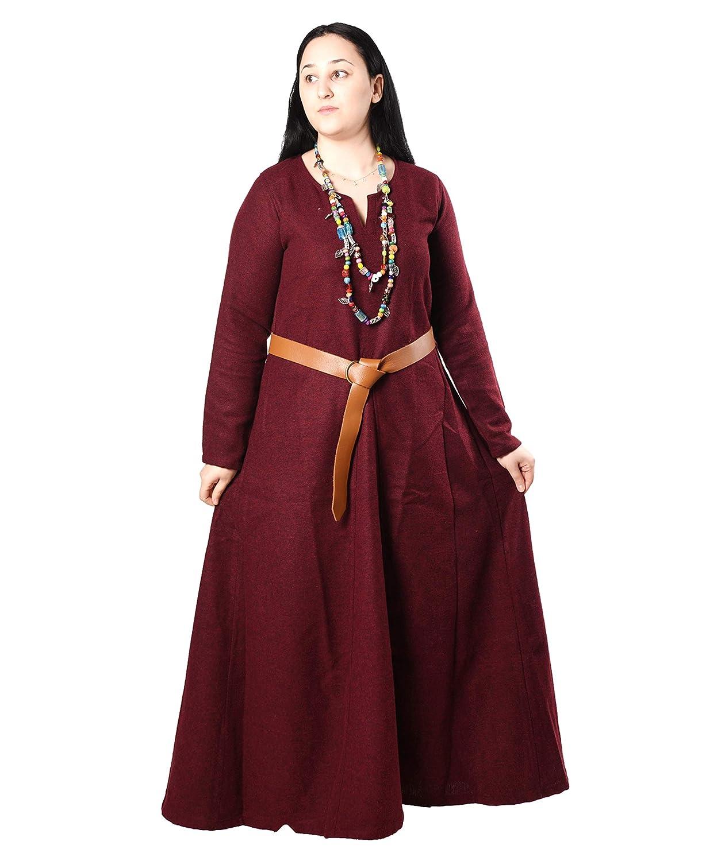 Amazon.com: Wilma Medieval Viking vestido de lana por ...