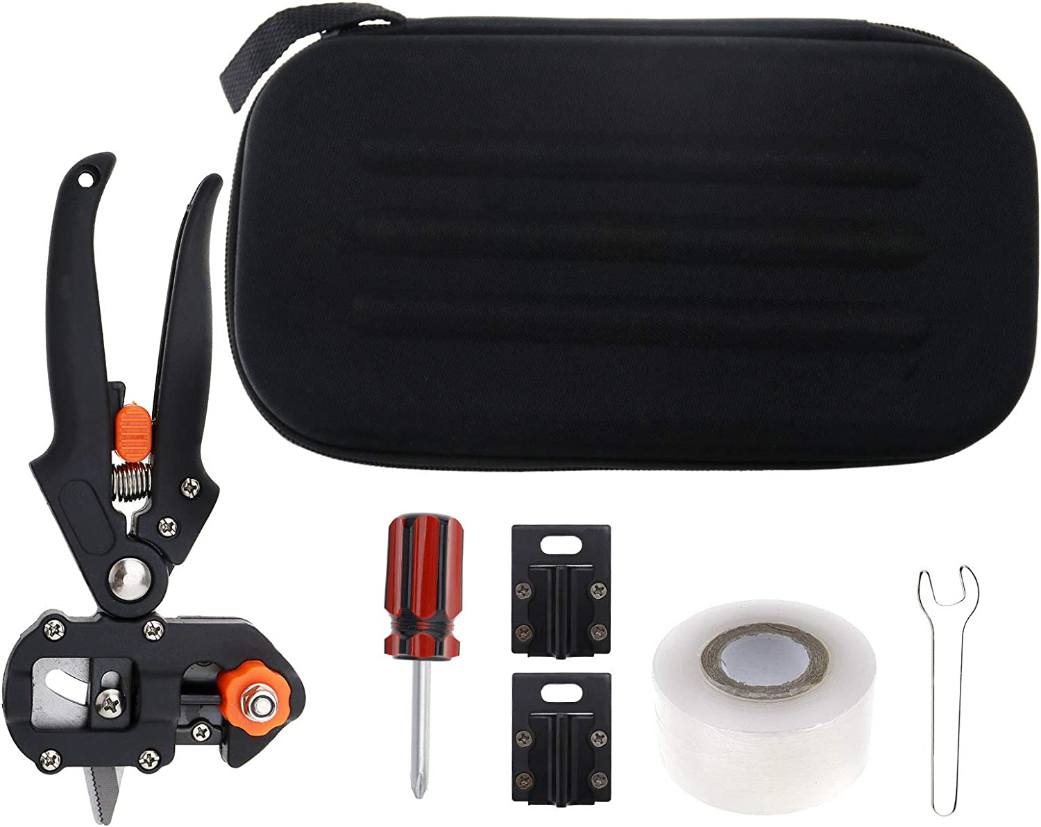 SING F LTD Garden Grafting Pruning Shears Cutting Fruit Vegetables Trees Tool Kit with Portable Bag and Grafting Tape