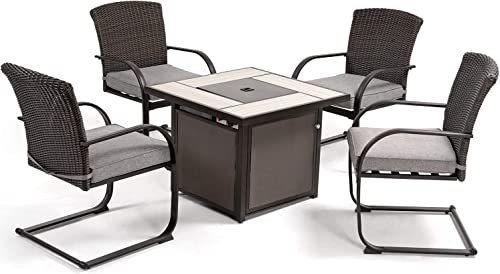Grand patio 5 PCS Outdoor Fire Pit Conversation Set