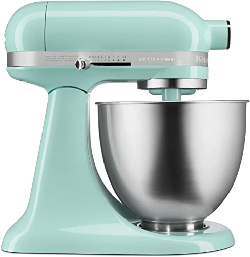 KitchenAid KSM3311XIC Artisan Mini 3.5 Quart Stand Mixer Ice Blue
