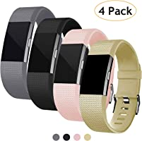 Poshei for Fitbit Charge 2 Bands, Classic Adjustable Replacement Sport Strap Bands for Fitbit Charge 2 Smartwatch...
