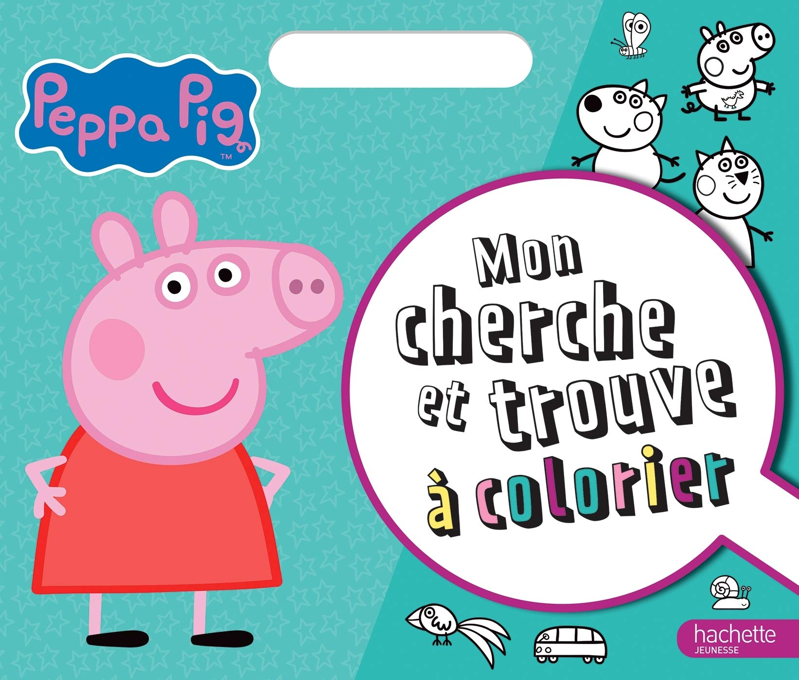 Peppa Pig Cherche Et Trouve A Colorier 9782017091189 Amazon Com Books