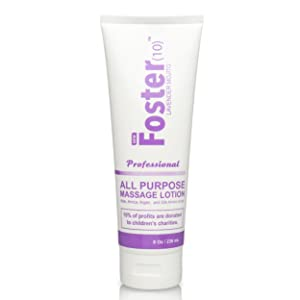 Foster(10) Lavender Mojito Massage Lotion - Made with Argan Oil, Arnica Extract, Silk Amino Acids, Not Tested on Animals, Paraben Free, Dye Free, All Scents From Essential Oils