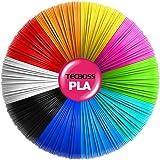 Tecboss 3D Pen Filament 10 Color 160 Feet, PLA Filament 1.75mm High-Precision Diameter - 3D Pen/3D Printer Filament…