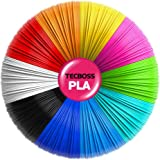 Tecboss - Filamento para bolígrafo 3D, 10 colores, 160 pies, filamento PLA de 1.75 mm de diámetro de alta precisión – 3D Pen/