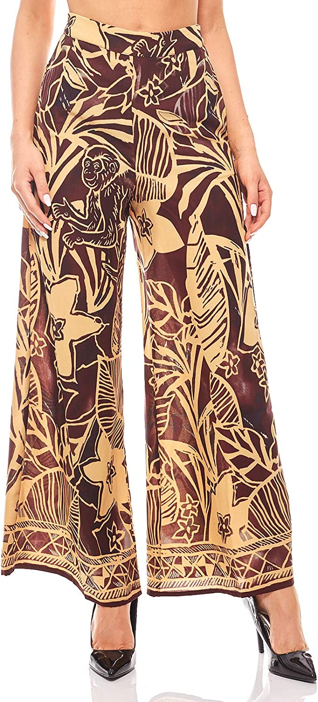 Aniston Palazzohose Stoffhose Safari-Look Haremshose Sommerhose Damen Bordeaux