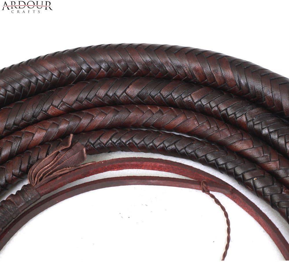 16/Z/öpfen Custom Ochsenziemer Bauch und Nackenrolle Konstruktion Indiana Jones Stil Schwere Dark Braun Ardour Crafts K/änguru Hide Bull Peitsche 06/zu 16/F/ü/ße