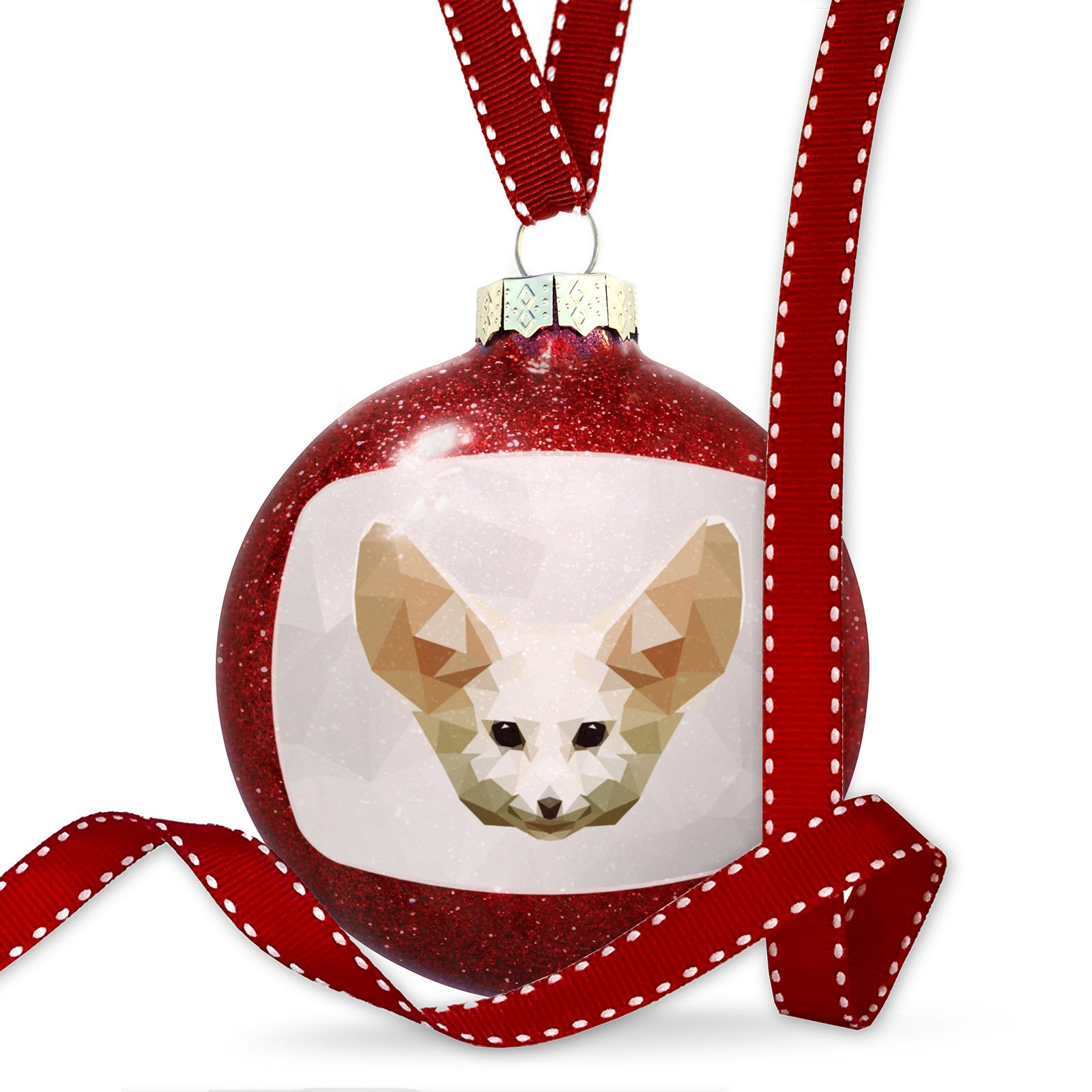 Christmas Decoration Low Poly zoo Animals Fennec Fox Ornament