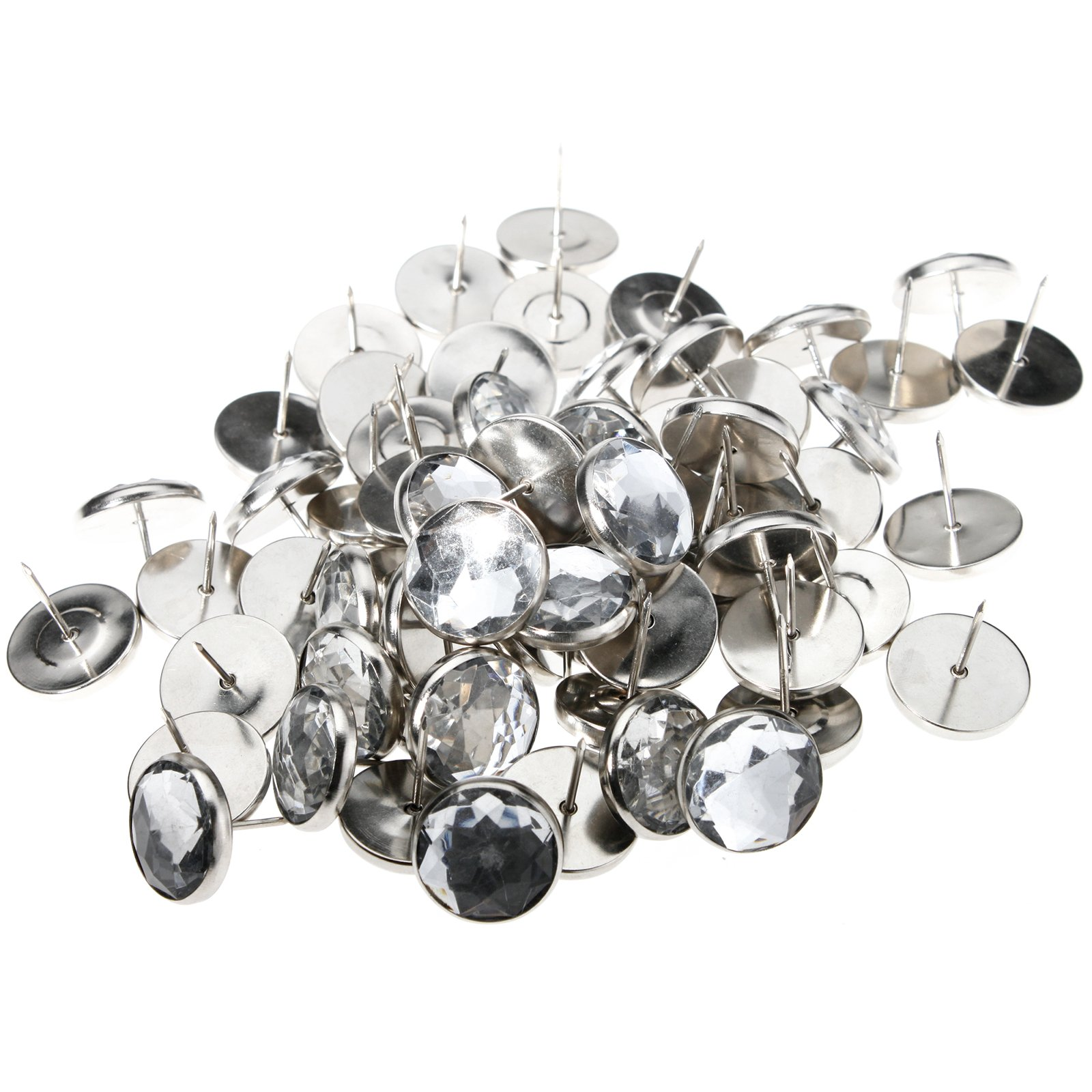 Creative Idear 50 x Sofa Headboard Wall Decor Bright Deco Tacks Crystal Upholstery Nail Button