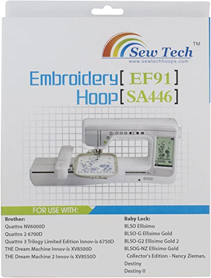 "8 /""x 8/"" Genuine Brother SA446 SA 446 Embroidery Machine Hoop"