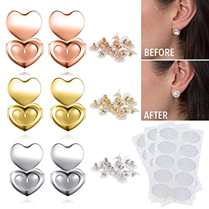 6d0e10c92 Ear Lifters,EMAZON ONLINE Adjustable Hypoallergenic Earing Backs Lifters -  Come with Earlobes Earring Support