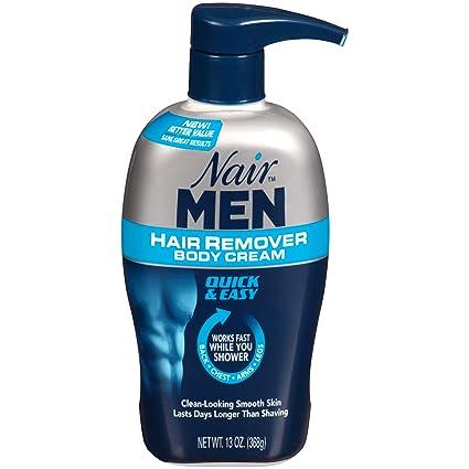 Nair Hair Remover Men Body Cream 385 ml Pump by Nair: Amazon ...