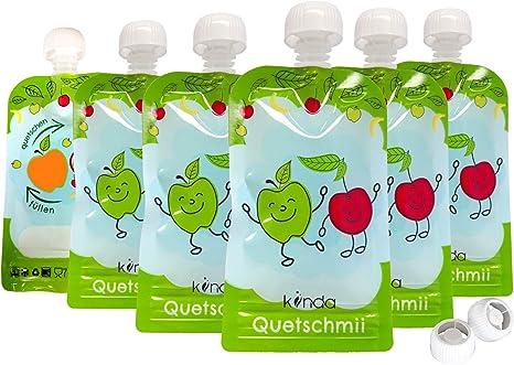 Bolsas de comida para bébés reutilizables (pack de 6), sin BPA ...