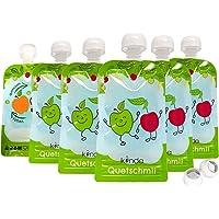 Knijpzak herbruikbaar 6-pack BPA-vrij | gemakkelijk te vullen en schoon te maken ideaal voor smoothie, fruitpuree…