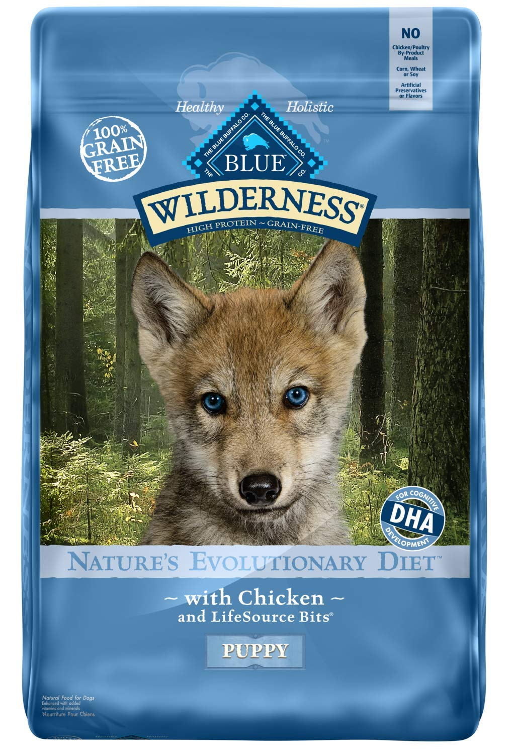 Blue Buffalo Wilderness High Protein Grain Free, Natural Puppy Dry Dog Food, Chicken 24-lb by Blue Buffalo