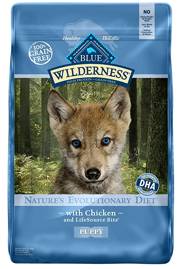 Blue Buffalo Wilderness High Protein Grain Free, Natural Puppy Dry Dog Food - The Best Grain-free Food for Pitbull Puppies