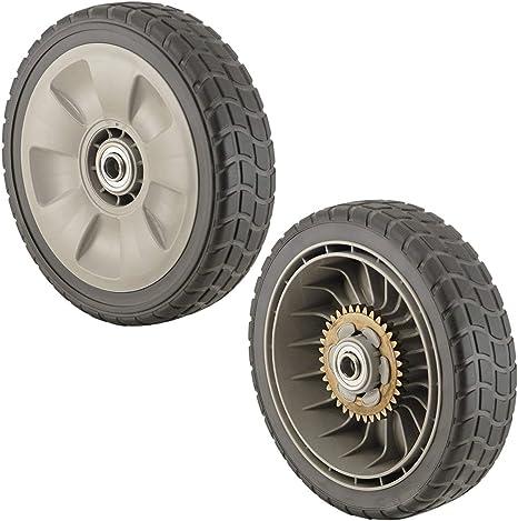 2 2 Front 44710-VL0-L02ZB Honda OEM HRR Wheel Kit, Rear 42710-VE2-M02ZE +
