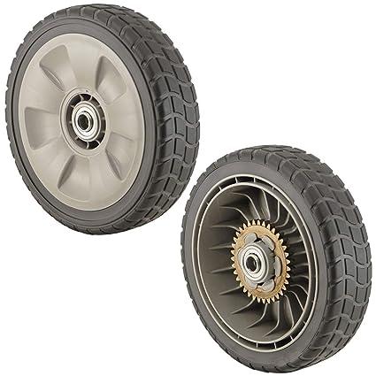 GENUINE HONDA LAWNMOWER WHEELS 2 FRONT 44710-VG3-000 /& 2 REAR 42710-VE2-M01ZE