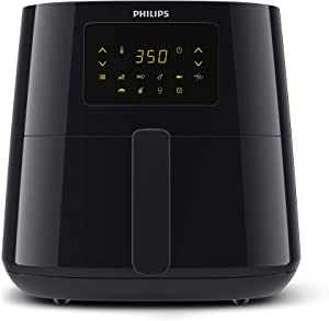 Philips Kitchen Appliances Essential XL 2.65lb/6.2L Capacity Digital Airfryer with Rapid Air Technology, Easy Clean Basket, Black- HD9270/91