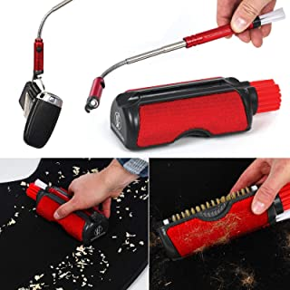 Roamwild Car Crack Vac – Cordless car interior cleaning tool kit – For those inside car clean up jobs - Many cleaning accessories in one tool - Extendable magnetic crack retrieval tool with bright LED