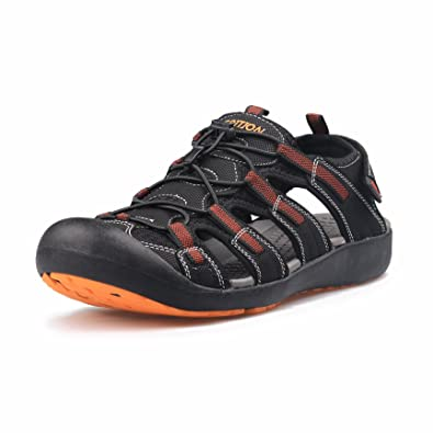 c751242b3a215 GRITION Men s Outdoor Sandals Protective Toecap Water Shoes Sport Hiking  Sandals Waterproof Quick Dry Large Size