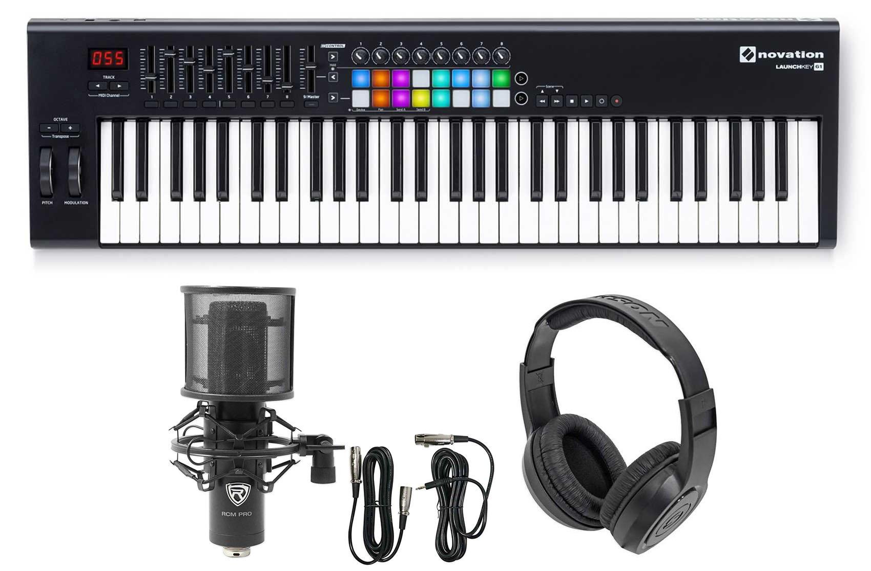 Novation LAUNCHKEY 61 MK2 MK11 61-Key USB Controller Keyboard+Mic and Headphones