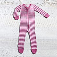 Merino Stripe Long Sleeve and Long Leg Coverall for 12-18 Months Girl, Multicolour, 1
