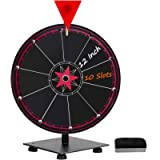 T-SIGN 12 Inch Heavy Duty Spinning Prize Wheel, 10 Slots Tabletop Prize Wheel Spinner, 1 Eraser for Carnival and Trade…