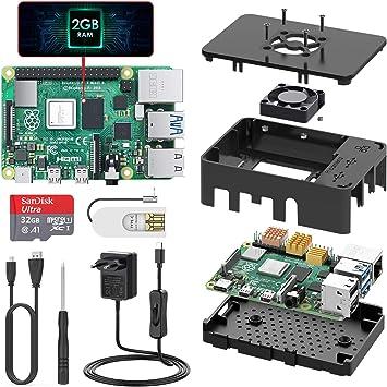 TICTID Raspberry Pi 4 Modelo B 2GB Starter Kit, Versión ...