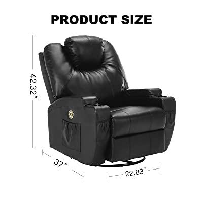 Suncoo Massage Recliner (Power Recliner- Black- 13 IN 1)