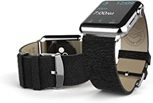 38mm Apple Watch Replacement Band, X-Doria Lux Band, Genuine Leather, Black Leather for Apple Watch All Models