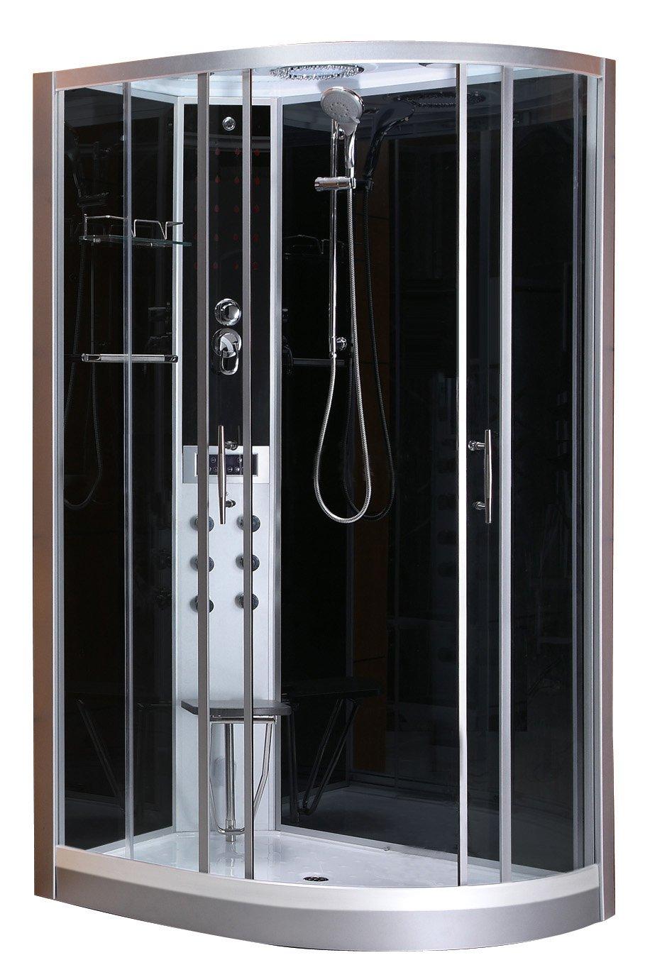 Cabina de ducha (Izquierda) Vario Completo de montaje rápido/80x 120x 215/130kg