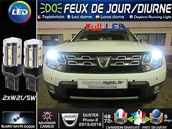 Pack Bombillas led-feux de jour-position - Dacia Duster fase 2: Amazon.es: Coche y moto