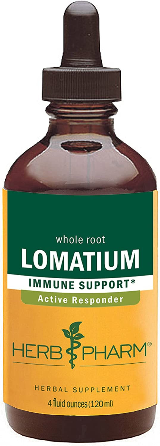 Herb Pharm Lomatium Liquid Extract for Immune System Support – 4 Ounce