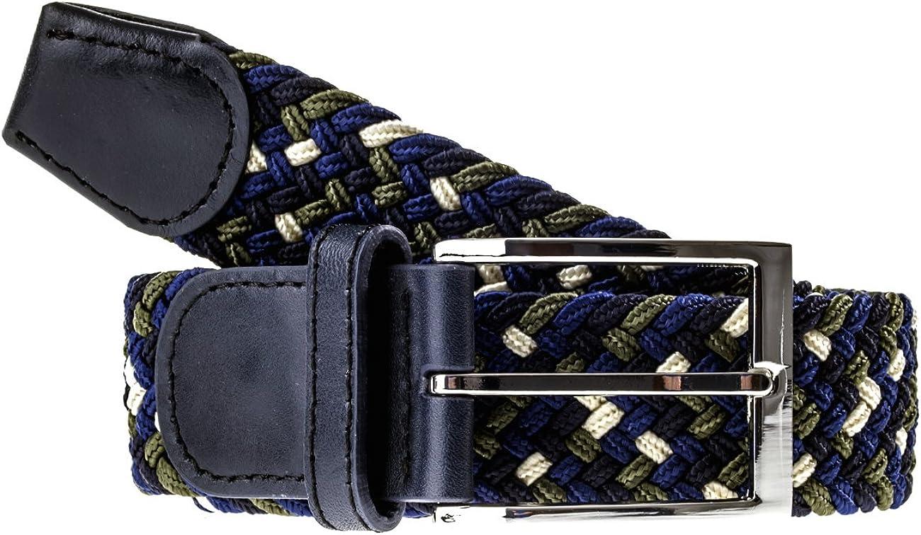 Cintura in pelle stretch stretchgürtel Uomo Nero Blu Marrone Cintura da uomo