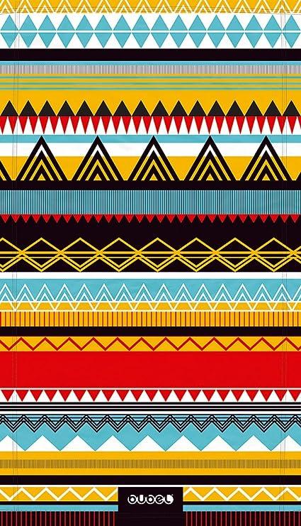 Bubel Tribal Toalla Técnica, Microfibra, Multicolor, 175x95x0.03 cm