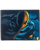 """DC Comics Deathstroke Bi-Fold Wallet- Faux Leather 4""""x4"""" Folded"""