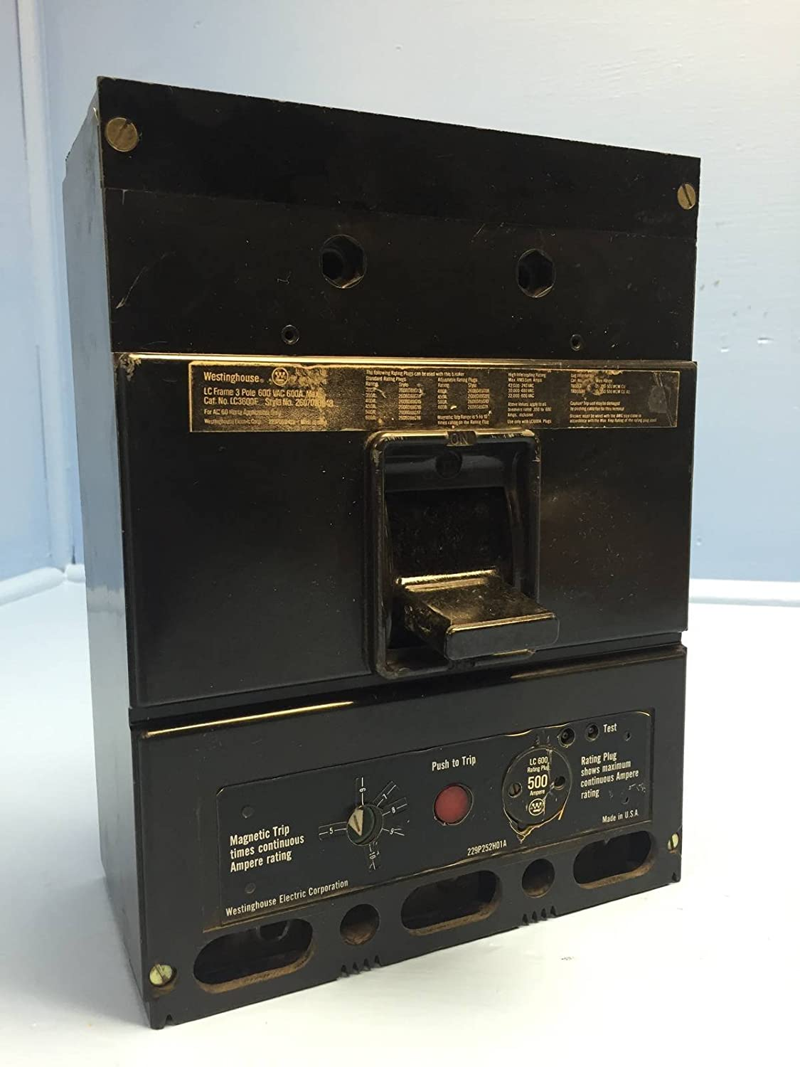Westinghouse Seltronic LC3600F 600 Amp Circuit Breaker w 400A Plug  Cutler-Hammer: Amazon.com: Industrial & Scientific