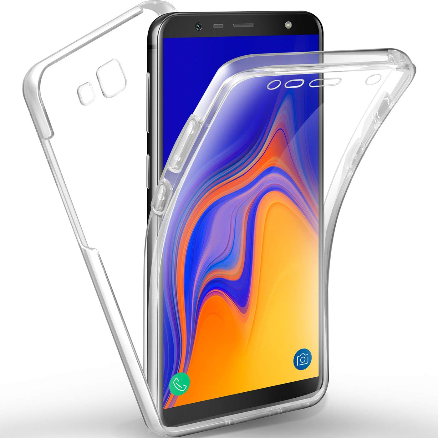 new arrival 53f8a 146af AROYI Samsung Galaxy J4 Plus Case 360 Degree Protection Phone Case,  Silicone Clear Cover [2 in 1 Hard PC Back + Soft TPU Front] Case for  Samsung ...