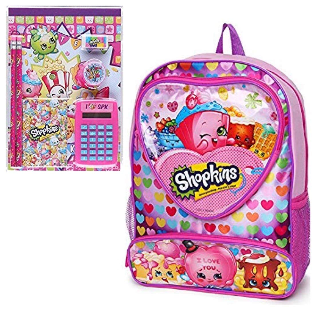 fca7bd6501f1 Shopkins Kids School Set - Backpack and 7 Piece School Supply Set