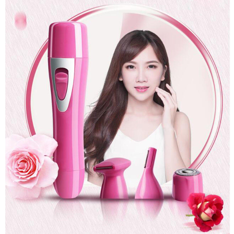 SansFin Señora 4 en 1 USB Recortadoras de precisión No Pain Máquina de  afeitar eléctrica - 99439b411f24