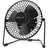 OPOLAR 5-Inch USB Desk Fan, Portable Mini Personal Fan with Two Speed-Settings, Super Quiet, Metal Design, 360° Up and…