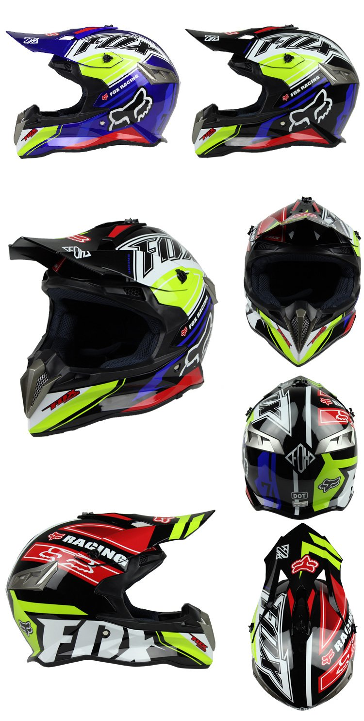 Woljay Dual Sport Off Road Motorcycle helmet Dirt Bike ATV D.O.T certified (M, Red) by Woljay (Image #1)