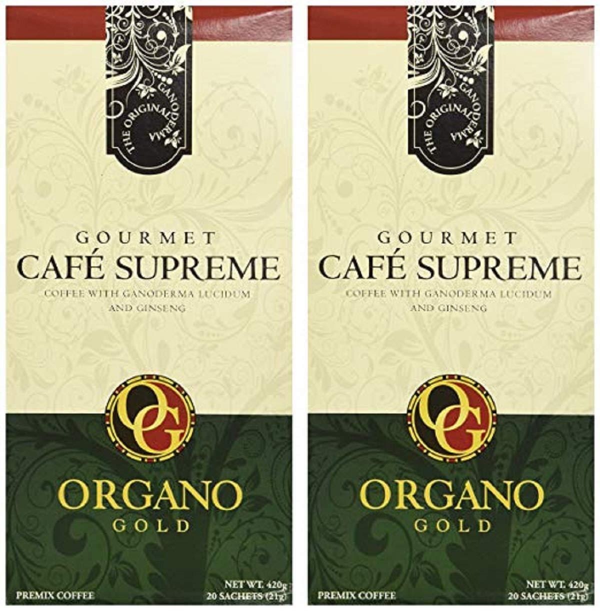 2 Boxes of Organo Gold Ganoderma Gourmet - Café Supreme(20 sachets)